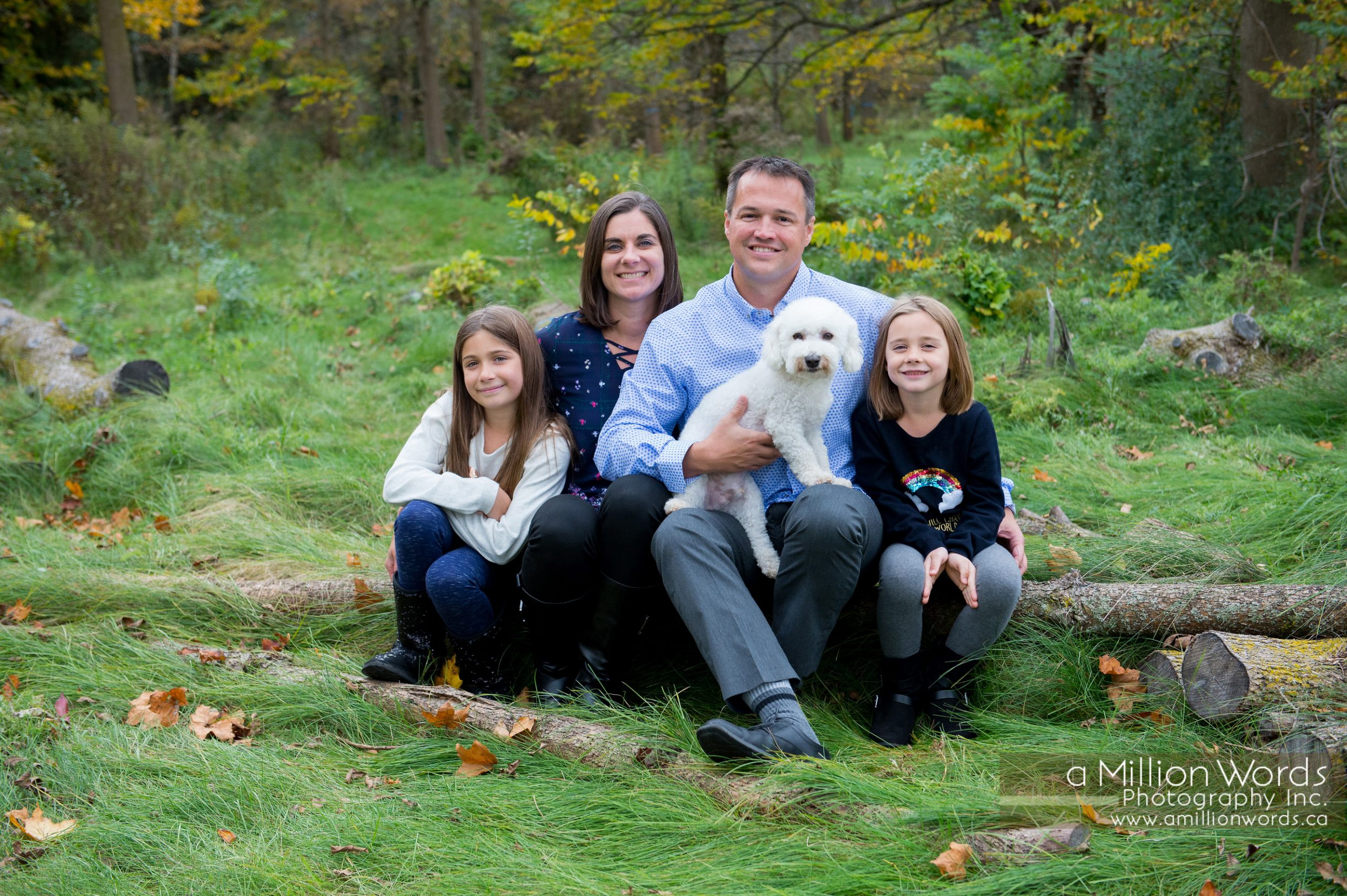 family photography with dog Guelph